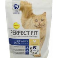Корм для кошек Перфект Фит с курицей для домашних кошек 650г