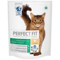 Корм для кошек Перфект Фит с курицей для кастрированных и стерилизованных 190г