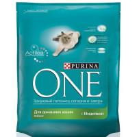 Корм для кошек Пурина Ван для домашних кошек с индейкой 750г