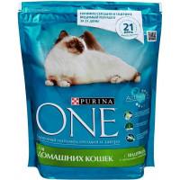 Корм для кошек Пурина Ван для домашних кошек с индейкой и цельными злаками 200г