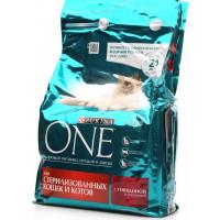 Корм для кошек Пурина Ван для стерилизованных кошек и котов с говядиной и пшеницей 750г