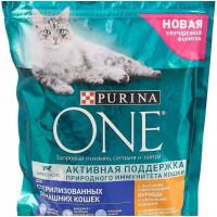 Корм для кошек Пурина Ван для стерилизованных кошек с курицей и злаками 750г