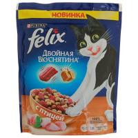 Корм для кошек Феликс Двойная вкуснятина птица 300г