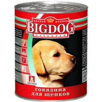Корм для собак БигДог говядина для щенков 850г ж/б