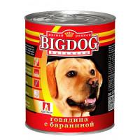 Корм для собак БигДог говядина с бараниной 850г ж/б