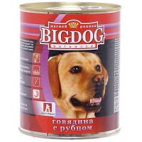 Корм для собак БигДог говядина с рубцом 850г ж/б