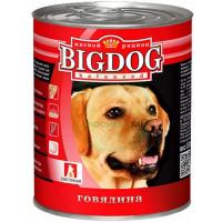 Корм для собак БигДог с говядиной 850г ж/б
