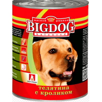 Корм для собак БигДог телятина с кроликом 850г ж/б