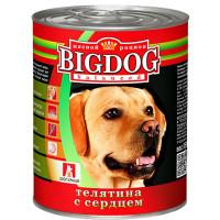 Корм для собак БигДог телятина с сердцем 850г ж/б