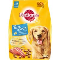 Корм для собак Педигри для взрослых собак всех пород говядина 600г