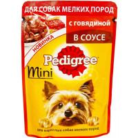 Корм для собак Педигри для миниатюрных пород с говядиной 85г