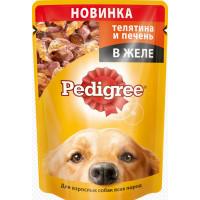 Корм для собак Педигри телятина и печень в желе 100г