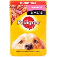 Корм для собак Педигри ягненок в желе 100г
