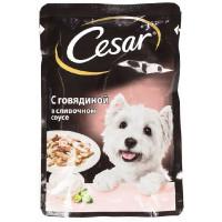 Корм для собак Цезарь говядина в сливочном соусе 100г