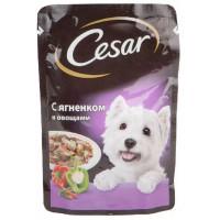 Корм для собак Цезарь с ягненком и овощами 100г