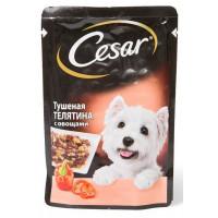 Корм для собак Цезарь телятина тушеная с овощами 100г