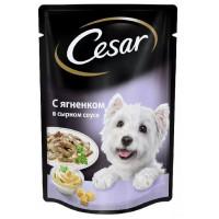 Корм для собак Цезарь ягненок в сырном соусе 100г