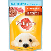 Корм для щенков Педигри говядина в соусе 85г