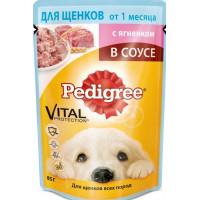 Корм для щенков Педигри ягненок в соусе 85г
