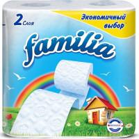 Бумага туалетная Фэмили двухслойная 4 рулона экономичный выбор