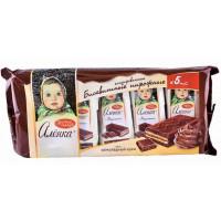 Пирожное бисквитное Аленка шоколадный крем 5*40г