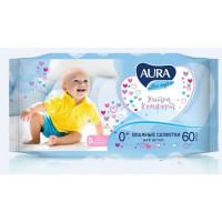 Салфетки влажные Аура для детей ультра комфорт 60шт