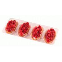 Набор пирожных Невские берега Песочно-ягодное с малиной 4*85г