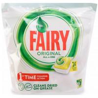 Средство Фэйри для посудомоечных машин лимон в капсулах 24шт