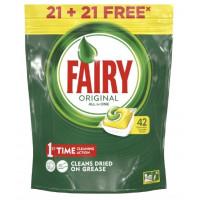 Средство Фэйри для посудомоечных машин лимон в капсулах 42шт