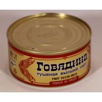 Говядина Борисоглебский мк тушеная в/с 325г ж/б соц пакет