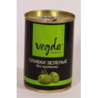 Оливки Вегда зеленые без косточки ж/бн 300г