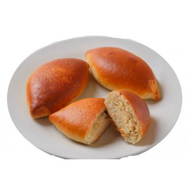 Пирожок печеный с капустой 60г 1шт 12ч