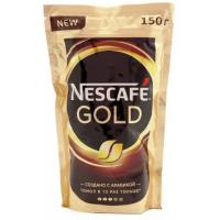 Кофе Нескафе голд растворимый 150г пакет