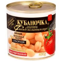 Фасоль Кубаночка белая в т/с ж/б 400г
