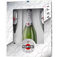 Вино игристое Мартини Асти белое сладкое 0,75л 7,5% +2 бокала