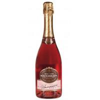 Вино игристое Массандра Крымское розовое брют 0,75л 10,5-13%