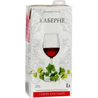 Вино Вина Ливадии Каберне красное сухое 1л 10-12%