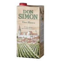 Вино Дон Симон белое сухое 1л 11%