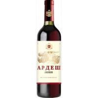 Вино Ардеш красное сухое 0,75л 10,5-12,5%