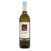 Вино Крымская трапеза Совиньон белое сухое 0,75л 10-12%