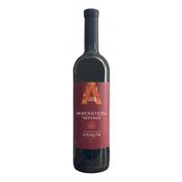 Вино ликерное Винодельня Алушта Мускатель черный красное 0,75л 16%