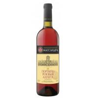 Вино ликерное Массандра Крым Портвейн Алушта розовое 0,75л 17%