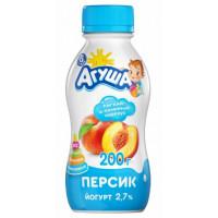 Йогурт Агуша питьевой персик с 8мес. 2,7% 200г