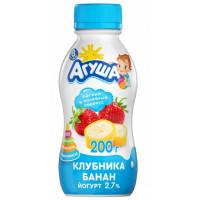 Йогурт Агуша питевой клубника банан 200г