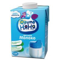 Молоко Фруто-няня ультрапастеризованное для детей 2,5% 0,5л