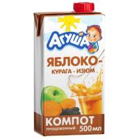 Компот Агуша изюм-курага-яблоко 0,5л