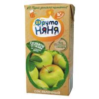 Сок Фруто-няня яблочный прямой отжим 0,2л