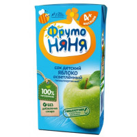 Сок Фруто-няня яблоко осветленный детский 0,2л