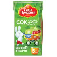 Сок Сады Придонья яблоко-вишня с 5 мес 125мл