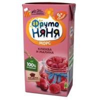 Морс Фруто-няня из ягод клюква/малина 200мл